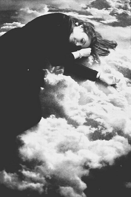 Fatma Gultekin - girl lying on clouds